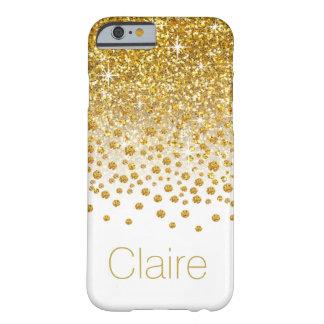 Glitter Confetti Shower Monogram | gold white Barely There iPhone 6 Case
