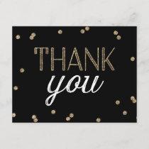 Glitter Confetti Thank You Card