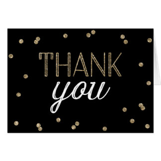 Glitter Confetti Thank You Card