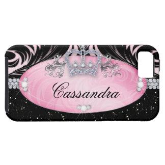 Glitter Crown iPhone Case Mate Tough Jewelry