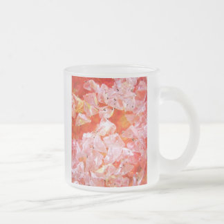 Glitter Crystals collection Frosted Glass Coffee Mug