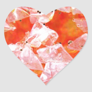 Glitter Crystals collection Heart Stickers