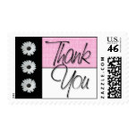 Glitter Daisy Thank You Postage Stamps