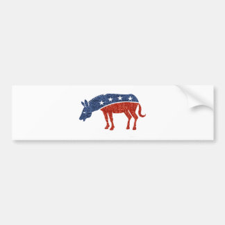 glitter democrat donkey bumper sticker