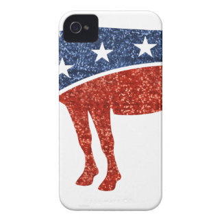 glitter democrat donkey iPhone 4 case