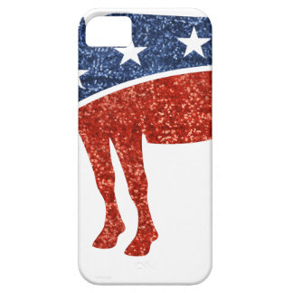 glitter democrat donkey iPhone SE/5/5s case