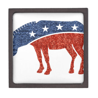 glitter democrat donkey jewelry box