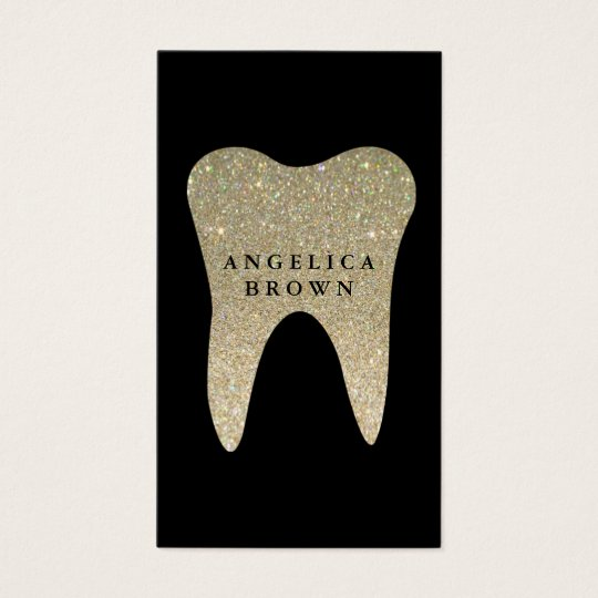 Glitter dental business card zazzle glitter dental business card reheart Image collections
