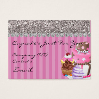 Glitter Design BAKERY  Business Card BLING TOO