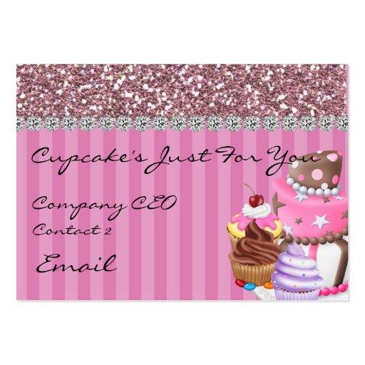 Glitter Design BAKERY Business Card BLING TOO