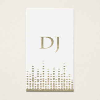 Glitter DJ Business Card