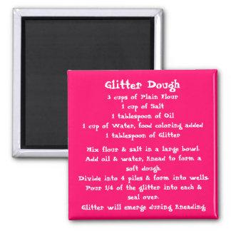Glitter Dough Recipe Magnet color