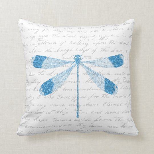 Throw Pillow With Dragonfly : Glitter Dragonfly Throw Pillow Zazzle