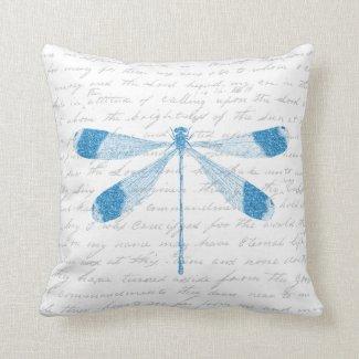 Glitter Dragonfly Throw Pillow