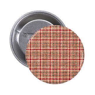 Glitter Earthtone Tartan Plaid 2 Inch Round Button