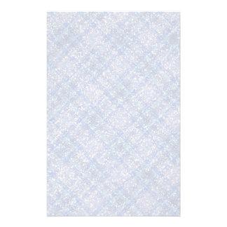 Glitter Effect Blue Tartain Plaid Stationery