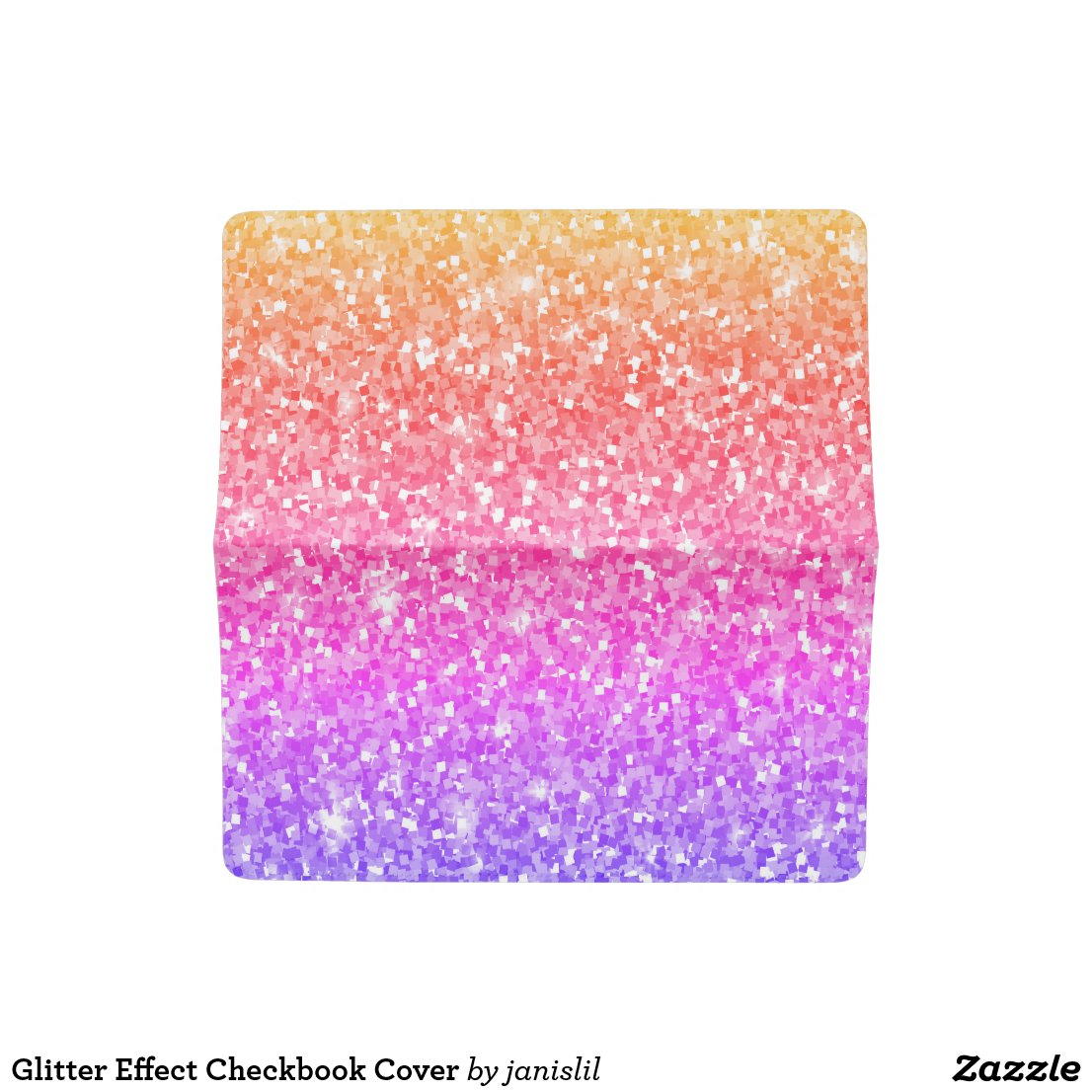 Glitter Effect Checkbook Cover