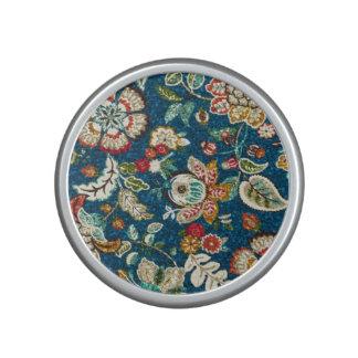 Glitter Effect Floral on Dark Blue Speaker