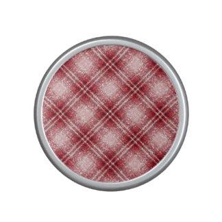 Glitter Effect Tartan in Red & Pink Bluetooth Speaker