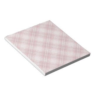 Glitter Effect Tartan in Red & Pink Notepad