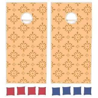 Glitter Floral Pattern Cornhole Set