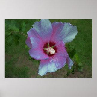 """""""Glitter Flower"""" digital art Poster"""