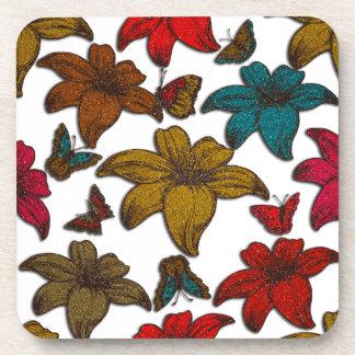 Glitter Flowers Coaster