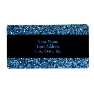 glitter gift tag Address Label