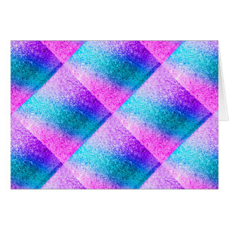 glitter,glam,pink,turquoise,metallic,trendy,girly, stationery note card