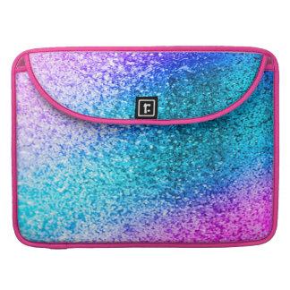 glitter,glam,pink,turquoise,metallic,trendy,girly, sleeve for MacBooks