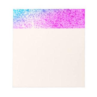 glitter,glam,pink,turquoise,metallic,trendy,girly, memo notepads