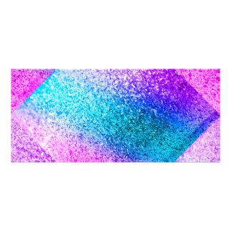 glitter,glam,pink,turquoise,metallic,trendy,girly, custom rack card