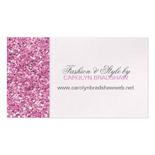 Glitter Look Pink Business Card