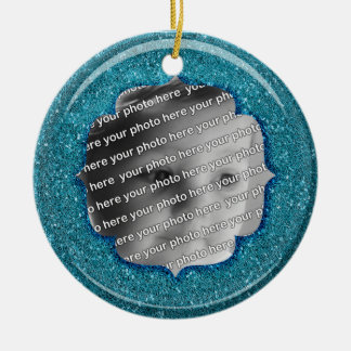 Glitter & Glass Effect Christmas Star Ceramic Ornament
