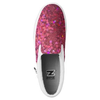 "Glitter ""Glitz"" Zipz Pink Shoes! Slip-On Sneakers"