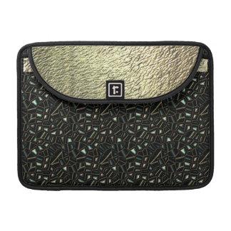 Glitter Gold and Black Fancy Macbook Sleeve Sleeve For MacBooks