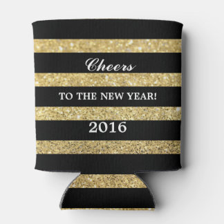 Glitter Gold | Cheers to the New Year 2016 Can Cooler