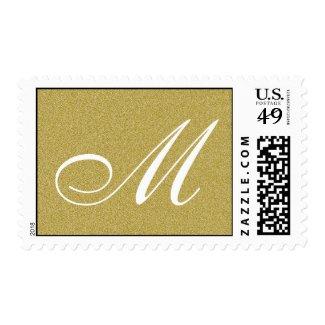 Glitter Gold Custom Monogram Stamp