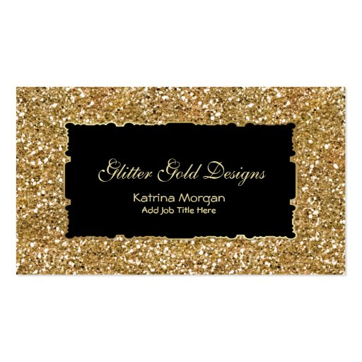 Glitter Gold Elegance Business Cards