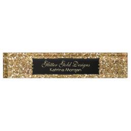 Glitter Gold Elegance Nameplate