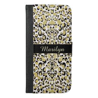 Glitter Gold Leopard Personalized Wallet Case