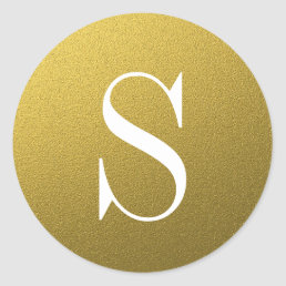 Glitter Gold Monogram Envelope Seal