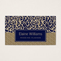 glitter gold navy Leopard print chic Cards
