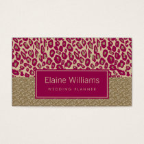 glitter gold pink Leopard print chic Cards