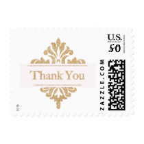 Glitter Gold Thank You Postage