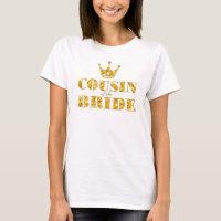 Glitter Golden Cousin of the Bride T-Shirt