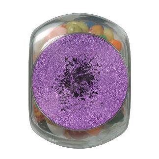 Glitter Gorilla Glass Candy Jars