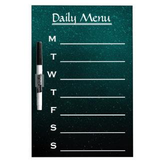 Glitter Green Chalkboard Daily Menu Weekly Menu Dry Erase Board