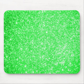 Glitter Green Mouse Pads