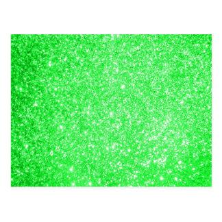 Glitter Green Postcard